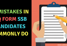 10 Mistakes in PIQ Form SSB Candidates Commonly Do
