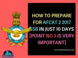 AFCAT SSB Preparation Tips