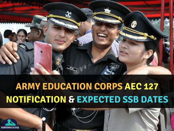 Army Education Corps AEC 127 Notification