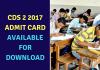 CDS 2 2017 Admit Card