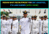 Indian Navy Recruitment 2018- July 2018 Course