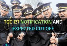 TGC 127 Notification Expected cutoff