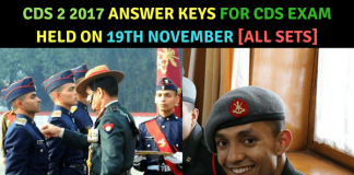 CDS 2 2017 Answer Key | CDS 2 Answer Keys 2017