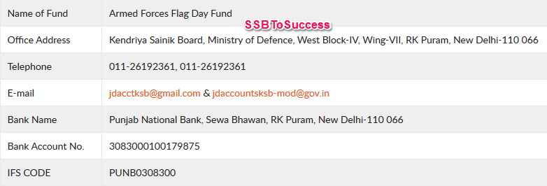 Armed Forces Flag Day Fund Donation Details