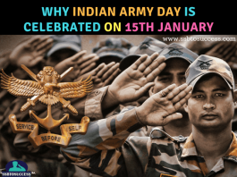 Indian Army Day is celebrated on 15th January