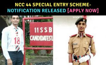 NCC 44 Special Entry Scheme