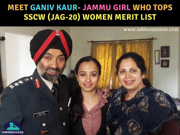 Meet Ganiv Kaur- Jammu girl who tops SSCW (JAG-20) Women merit list