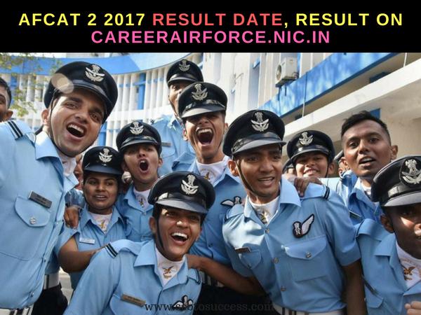 AFCAT 2 2017 Result Date, Result on Careerairforce.nic.in