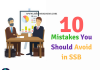 Mistakes in SSB, Reasons for Rejection in SSB