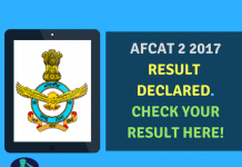 AFCAT 2 2017 Result Declared