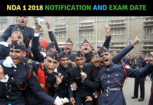 NDA 1 2018 Notification and Exam Date
