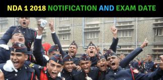 NDA 1 2018 Notification and Exam Date