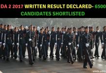 NDA 2 2017 Result