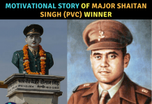 Story of Major Shaitan Singh, Param Vir Chakra
