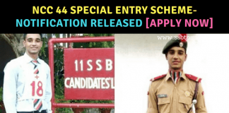 NCC 44 Special Entry Scheme