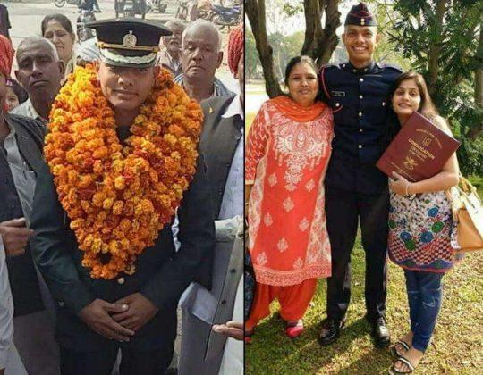 captain kapil kundu with family
