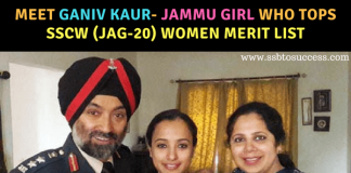 Meet Ganiv Kaur- Jammu girl who tops SSCW (JAG-20) Women merit list