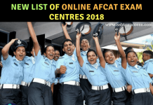 List of Online AFCAT Exam Centre 2018
