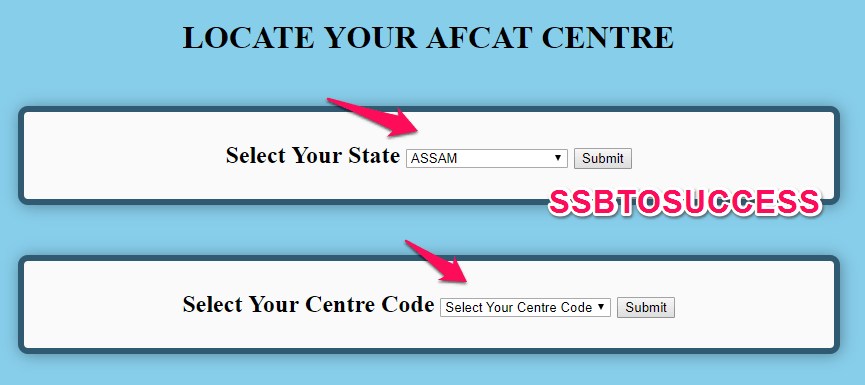 List Of AFCAT Online Exam Centre