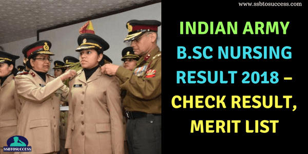 Indian Army B.Sc Nursing MNS Result 2018