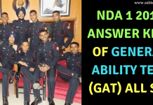 NDA 1 2018 Answer Key General Ability Test