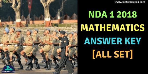 NDA 1 2018 Answer Key for Mathematics