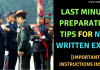 NDA Written Exam Preparation Tips