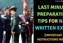 NDA Written Exam Preparation Tips