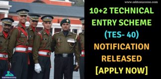 10+2 Technical Entry Scheme (TES 40)