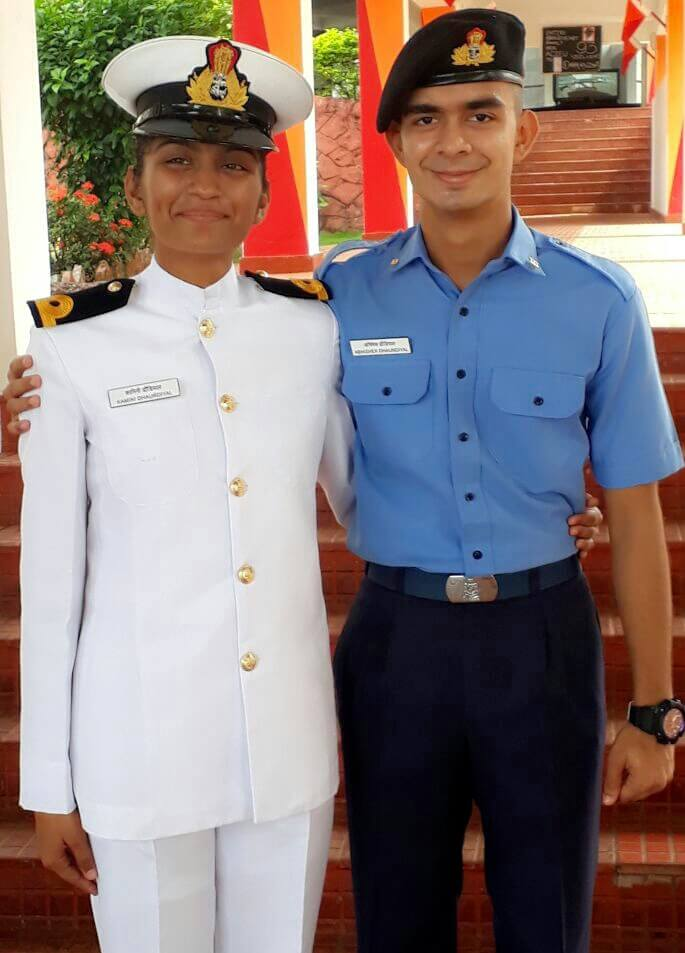 Kamini Dhaundiyal and Cadet Abhishek Dhaundiyal