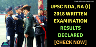 NDA 1 2018 Result Declared
