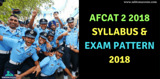 AFCAT 2 2018 Syllabus & Exam pattern