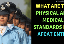 Physical and Medical Standards for AFCAT