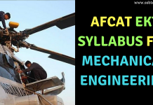 AFCAT EKT Syllabus for Mechanical