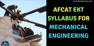 AFCAT EKT Syllabus for Mechanical