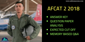 AFCAT 2 2018 Answer Key