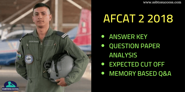 AFCAT 2 2018 Answer Key