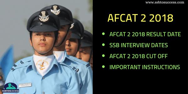 AFCAT 2 2018 Result Date