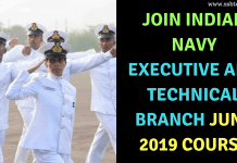 Indian Navy Executive and Technical Branch June 2019 Course