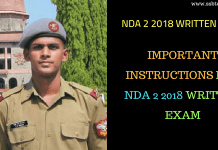 NDA 2 2018 Written Exam