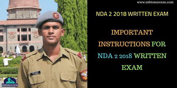NDA 2 2018 Written Exam