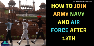 Join Indian Army Navy and Air Force After 12th