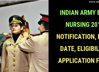Indian Army B.Sc Nursing 2019