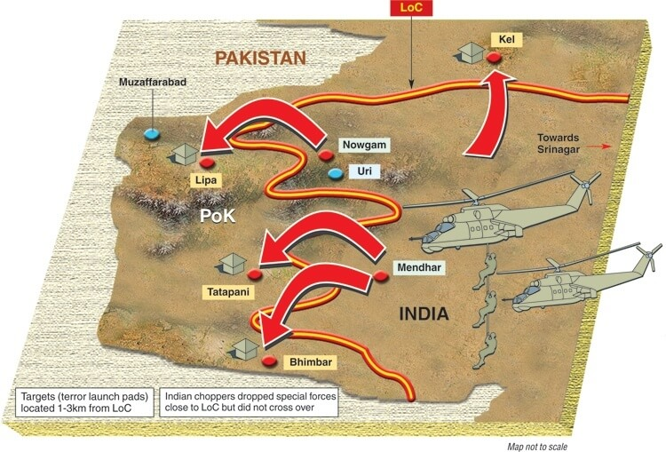 Surgical strike Map
