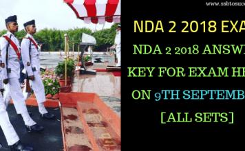 NDA 2 2018 Answer Key
