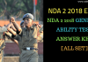 NDA 2 2018 General Ability Test Answer Key