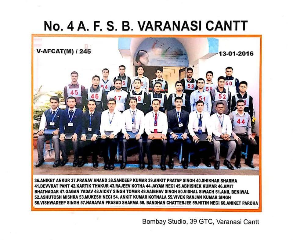 Flying Officer Kartik Thakur AFSB Varanasi Cantt