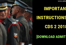CDS 2 2018 Admit Card Download