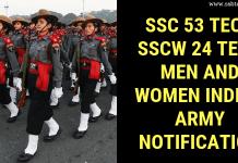 SSC 53 Tech SSCW 24 Tech Men and Women Indian Army Notification
