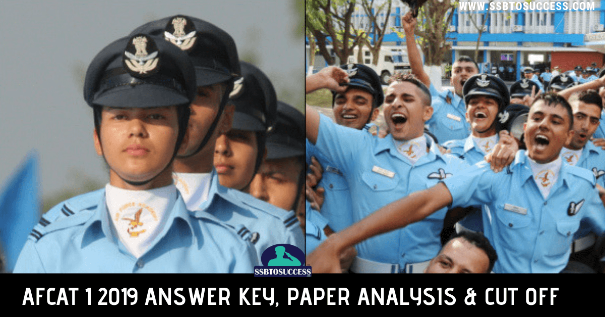 AFCAT 1 2019 Answer Key, Question Paper Analysis & Cut Off